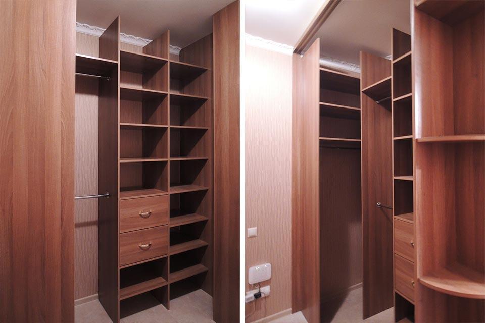 гардеробная 2 на 1.5, угловой гардеробный шкаф в прихожую