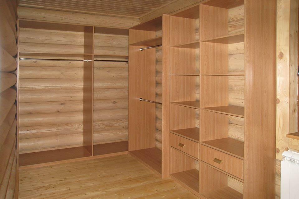 гардеробная без дверей, гардеробная комната в доме