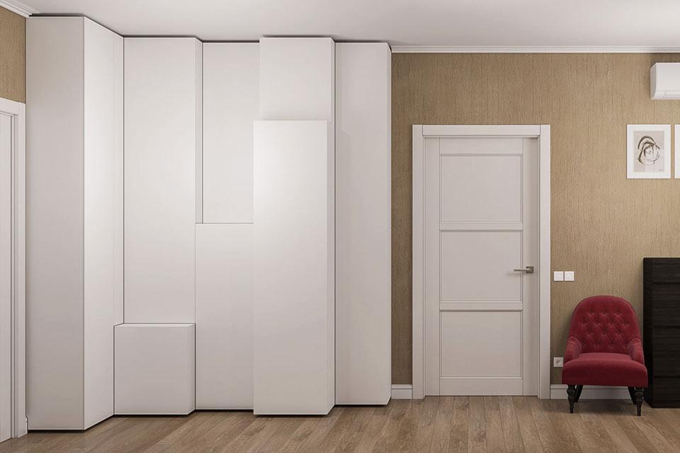 шкаф распашной индивидуальный, шкаф в современном стиле