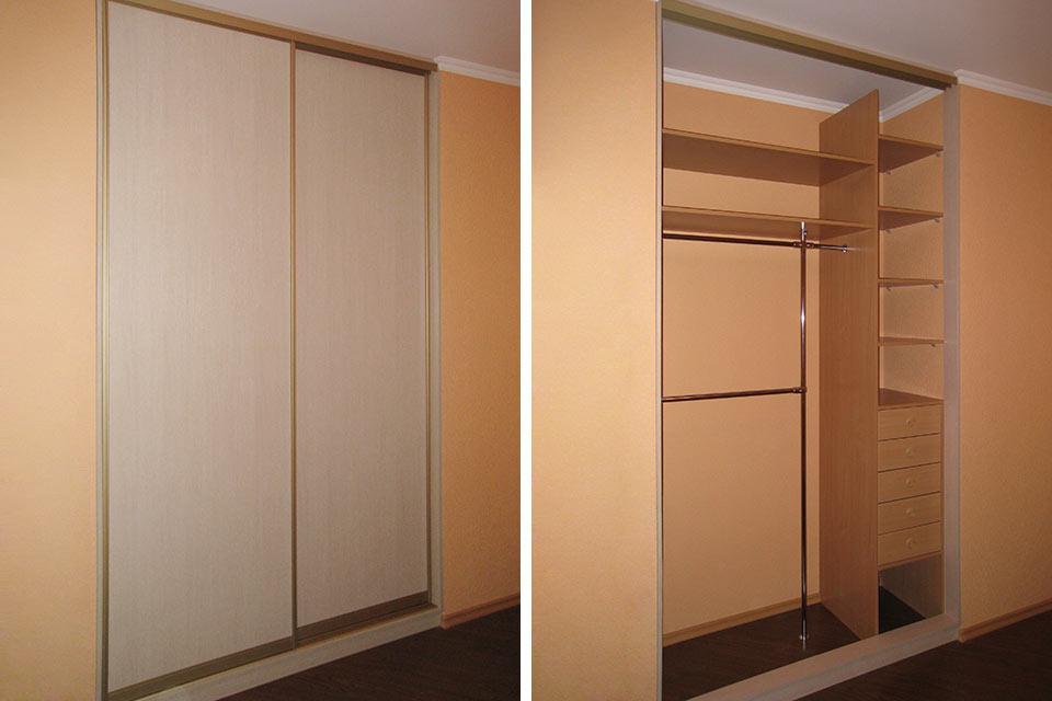 шкаф встроенный в стену