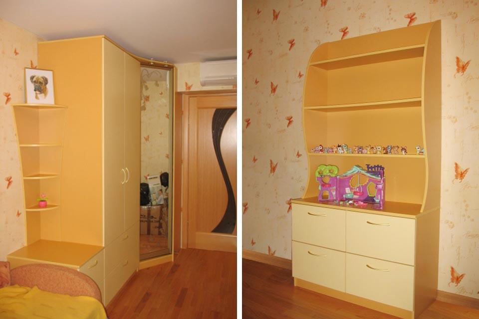 угловой детский шкаф