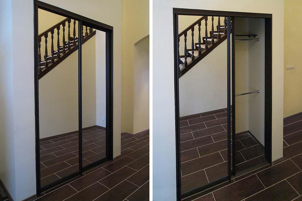 встраиваемый шкаф с зеркалами