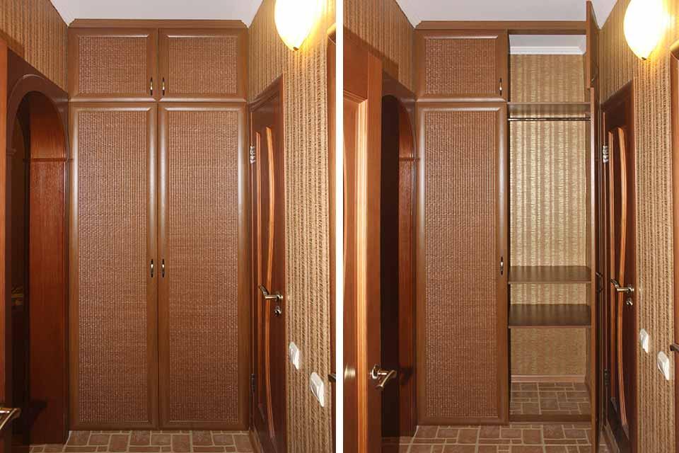 встроенный распашной шкаф в коридор