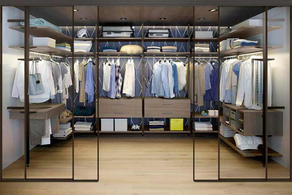 алюминиевая гардеробная система uno