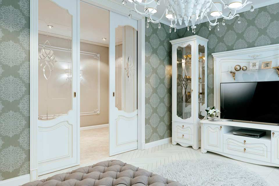 межкомнатные раздвижные двери белые
