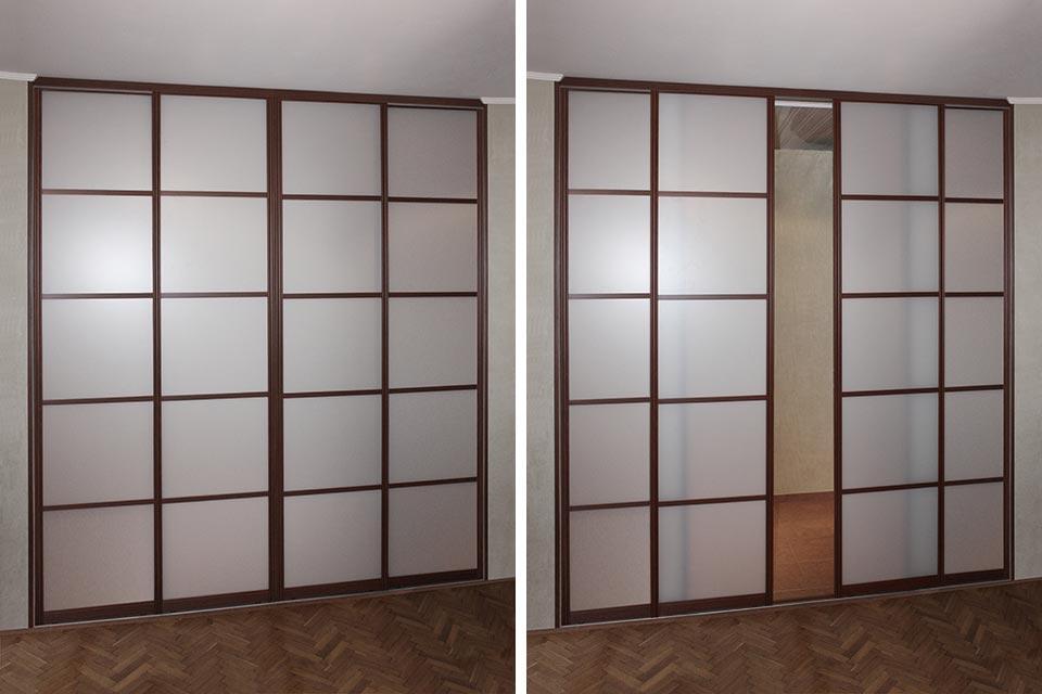 межкомнатные стеклянные раздвижные двери