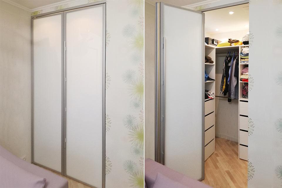 складная дверь для гардеробной